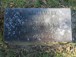 Nellie <I>Ormsby</I> Brown