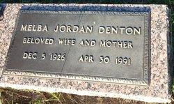 Melba Nett <I>Jordan</I> Denton