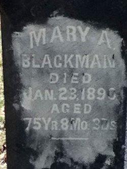 Mary Ann <I>Bruner</I> Blackman