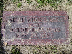 """Harold Wilbur """"Pete"""" Barth"""
