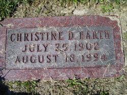 Christine D <I>Busbey</I> Barth
