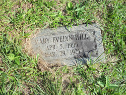 "Mary Evelyn ""Evelyn"" <I>Beavers</I> Hill"