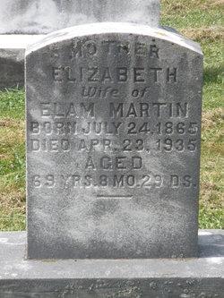 Elizabeth M <I>Zimmerman</I> Martin
