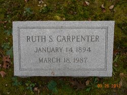 """Mary Ruth """"Ruth"""" <I>Smyth</I> Carpenter"""