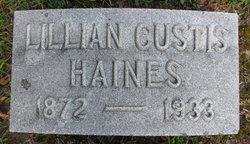 Lillian Vesta <I>Custis</I> Haines