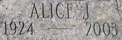 Alice Jean <I>Baxter</I> Fitzgerald
