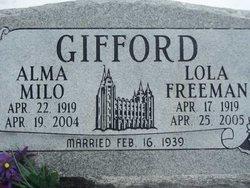 Lola Emmeline <I>Freeman</I> Gifford