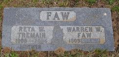 Reta W <I>Tremain</I> Faw