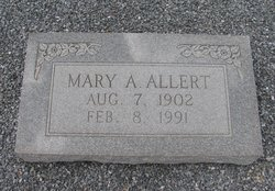 "Mary ""Mae"" <I>Anders</I> Allert"