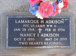 Lamarque H Adkison