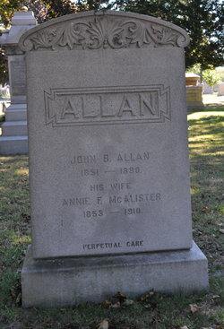Annie F <I>McAlister</I> Allan