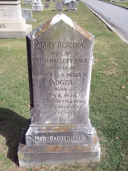 Mary Rebecca <I>Badger</I> Hale