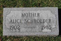 Alice Sarah Ellen <I>Mitchell</I> Schroeder