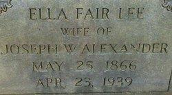 Ella Fair <I>Lee</I> Alexander