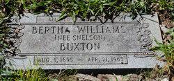 Bertha <I>Snelson</I> Buxton
