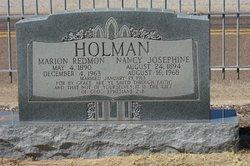 """Nancy Josephine """"Josie"""" <I>Roberson</I> Holman"""