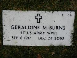 Geraldine M Burns