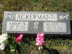 Mildred A <I>Schade</I> Ackermann