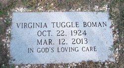 "Virginia ""Ginny"" <I>Tuggle</I> Boman"