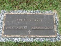 Ethel Ann <I>Christman</I> Haas
