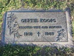 "Gertrude ""Grace"" <I>Vanden Berg</I> Koops"