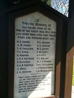 Richmond Great War 1914 - 1918 Memorial