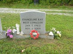"""Evangeline Kay """"Vangie"""" <I>West</I> Lewallen"""