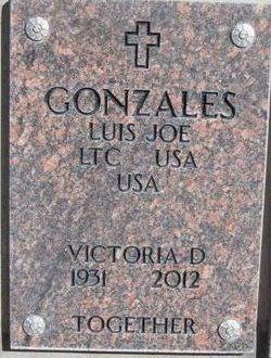 "Victoria D ""Vicky"" <I>Martinez</I> Gonzales"