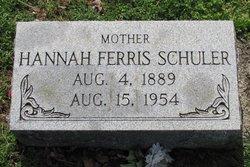 Hannah Ethel <I>Ferris</I> Schuler