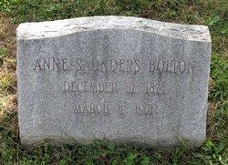 Anne Marshall <I>Saunders</I> Bolton