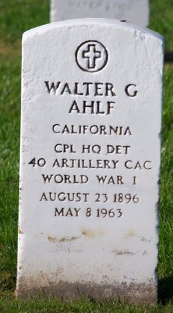 Walter G Ahlf