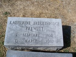 Katherine <I>Breckinridge</I> Prewitt