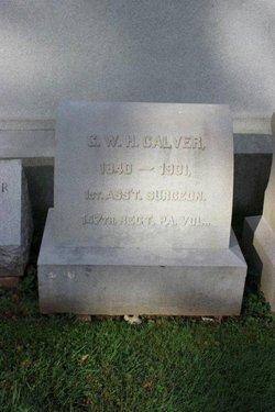 Dr George Washington Hartshorne Calver
