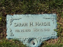 Sarah Susan <I>Harris</I> Hardie