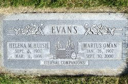 Mary Helena <I>Huish</I> Evans