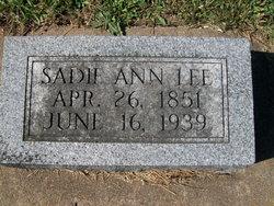 Sadie Ann <I>Bryan</I> Lee