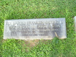 Rev Harold Franklin Hafer