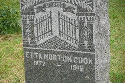 Etta Henrietta <I>Morton</I> Cook