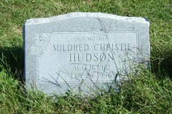 Mildred Helen <I>Christie</I> Hudson