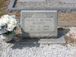 Gladys <I>McNeal</I> Bennett