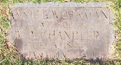 Annie B. <I>Workman</I> Chandler