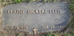 Elaine Acker <I>Lory</I> Ellis