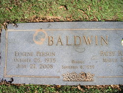 "Eugene Person ""Sonny"" Baldwin, Sr"