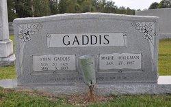 Marie <I>Hallman</I> Gaddis