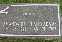Sarah Amanda <I>Gilliland</I> Adams