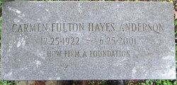 Carmen Fulton <I>Hayes</I> Anderson