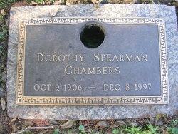 Dorothy <I>Spearman</I> Chambers