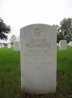 Annie <I>Clements</I> Adams