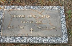 Dossie <I>King</I> Greer