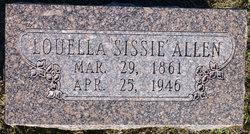 """Louella Ella """"Sissie"""" <I>Glenn</I> Allen"""
